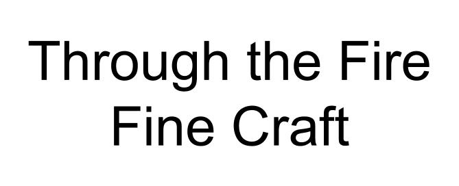Through the Fire Fine Craft logo