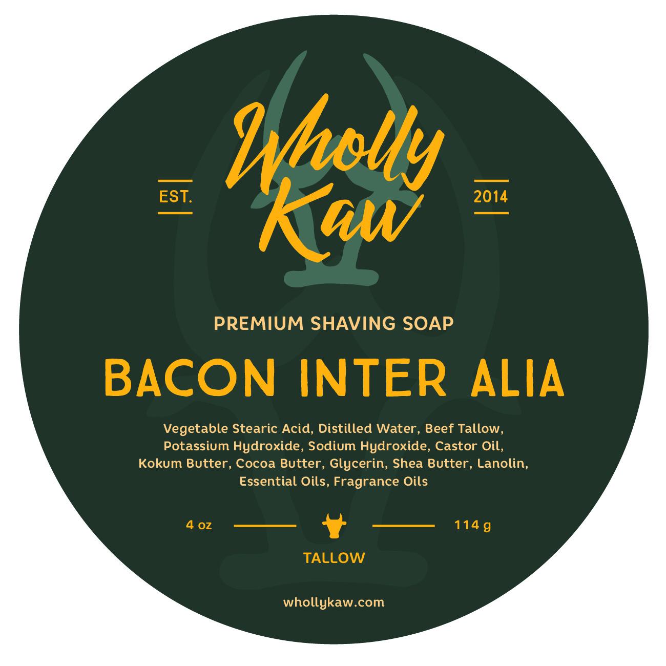 Wholly Kaw - Bacon Inter Alia - Soap image