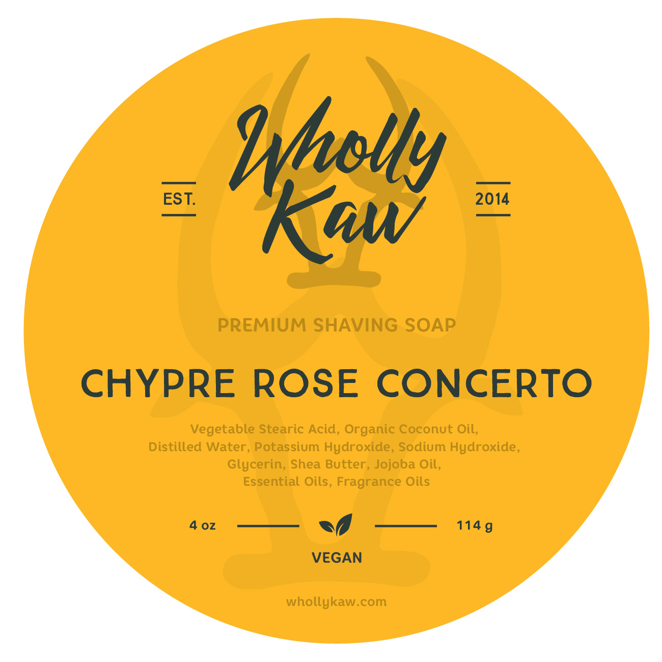 Wholly Kaw - Chypre Rose Concerto - Soap (Vegan) image