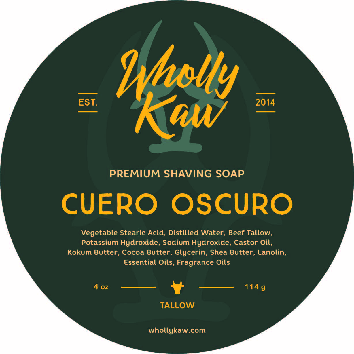 Wholly Kaw - Cuero Oscuro - Soap image