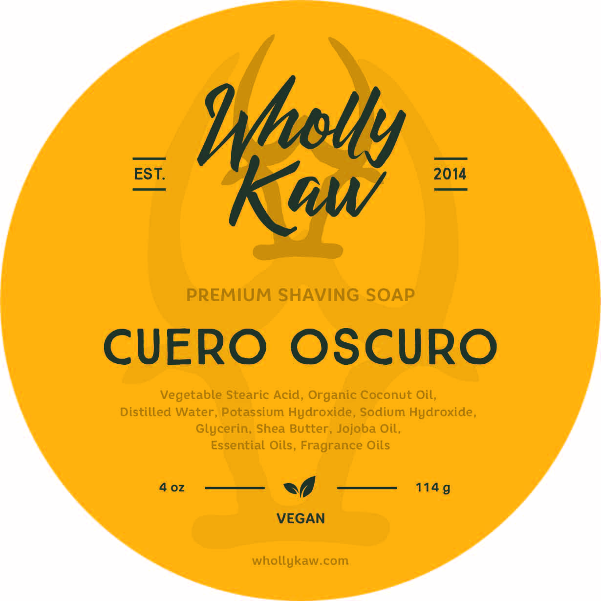Wholly Kaw - Cuero Oscuro - Soap (Vegan) image