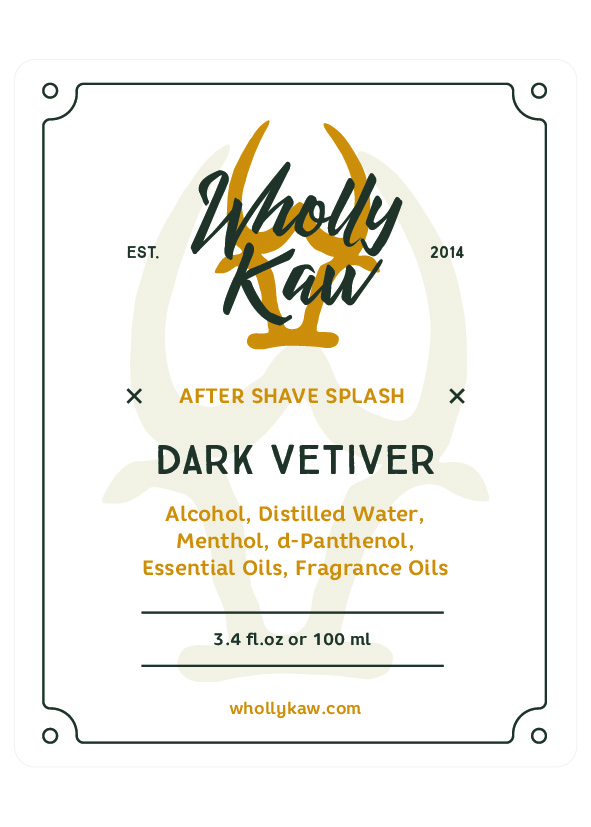 Wholly Kaw - Dark Vetiver - Aftershave image