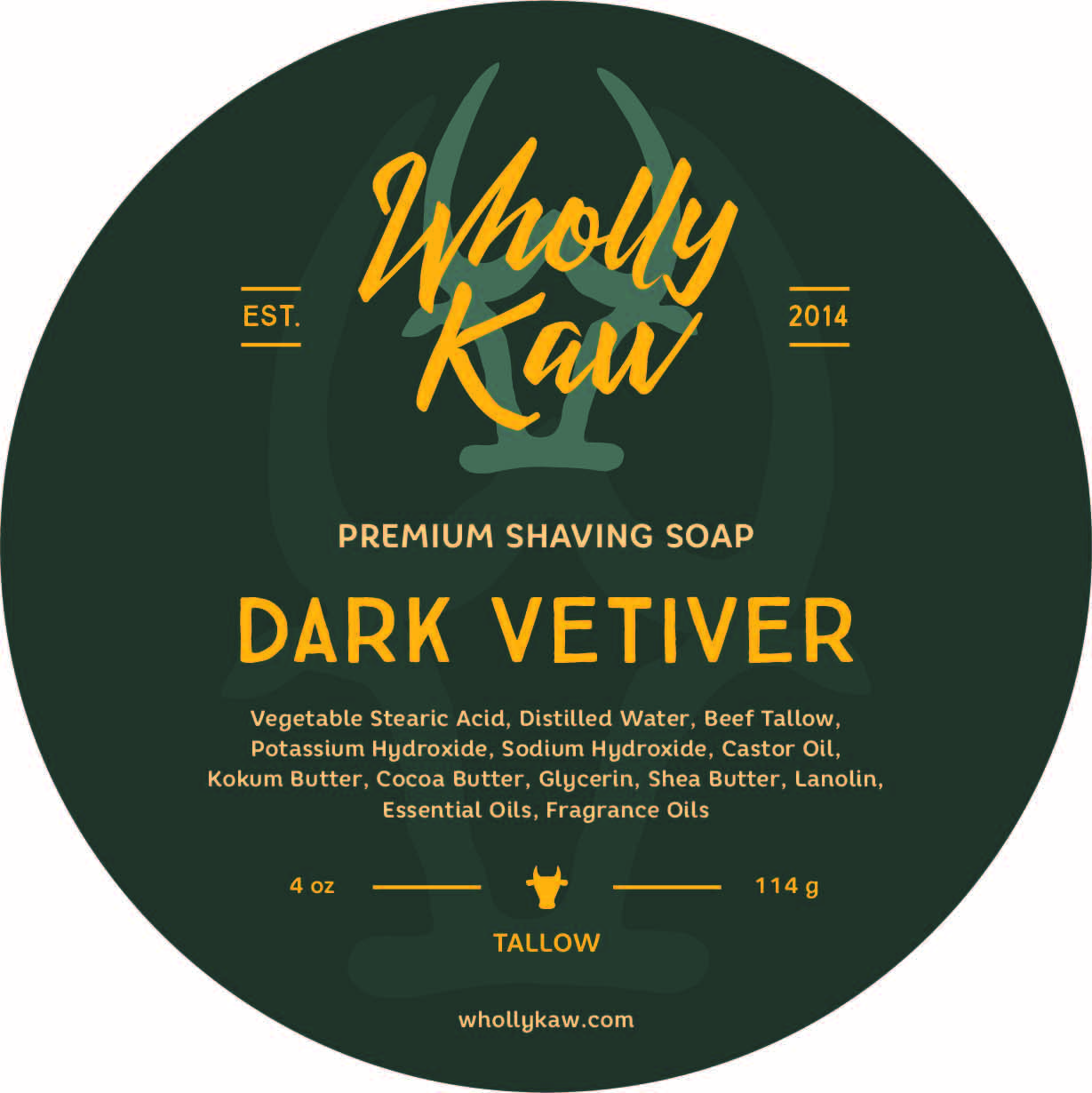 Wholly Kaw - Dark Vetiver - Soap image