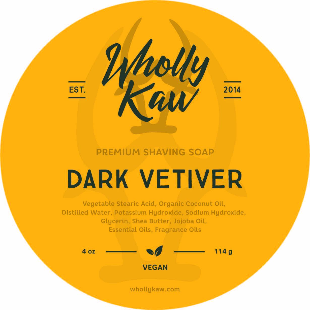 Wholly Kaw - Dark Vetiver - Soap (Vegan) image