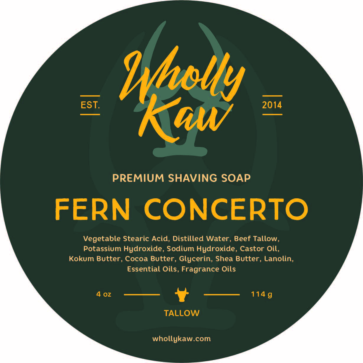 Wholly Kaw - Fern Concerto - Soap image