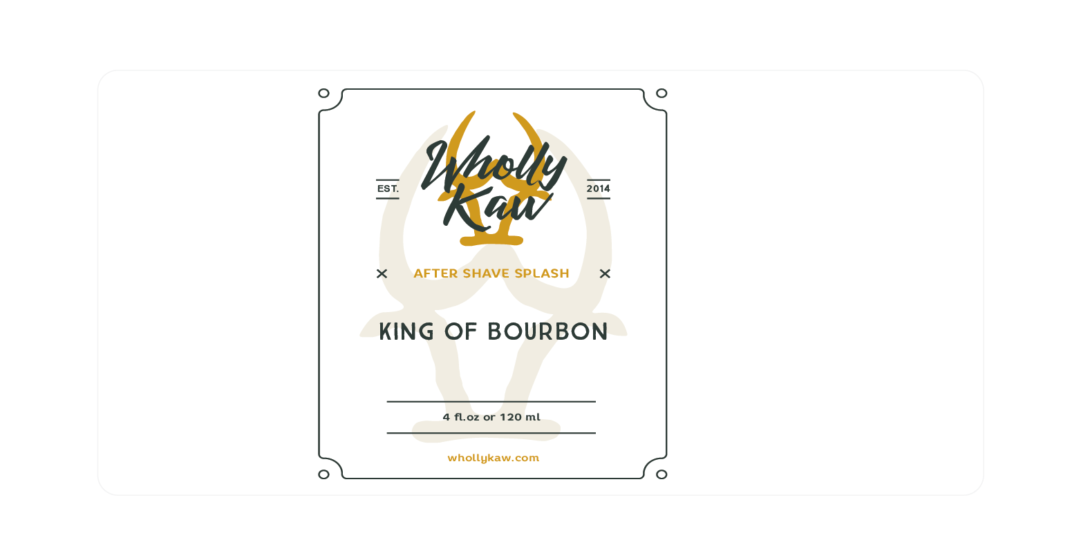 Wholly Kaw - King of Bourbon - Aftershave image
