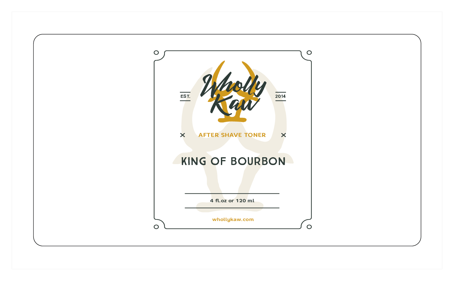 Wholly Kaw - King of Bourbon - Toner image