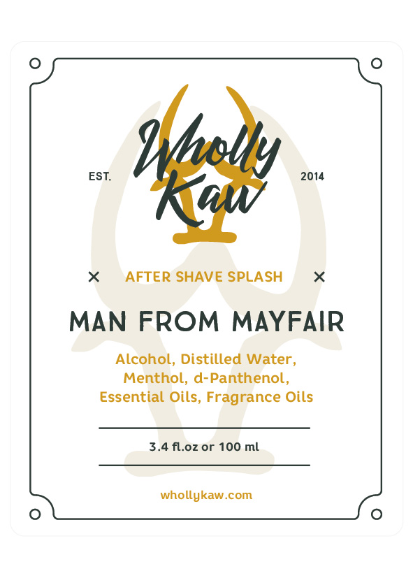 Wholly Kaw - Man From Mayfair - Aftershave image