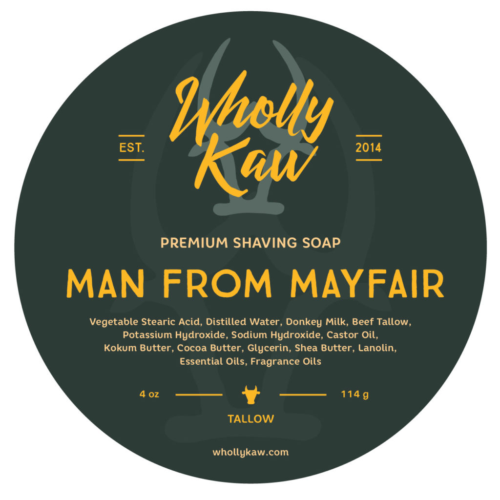 Wholly Kaw - Man From Mayfair - Soap image