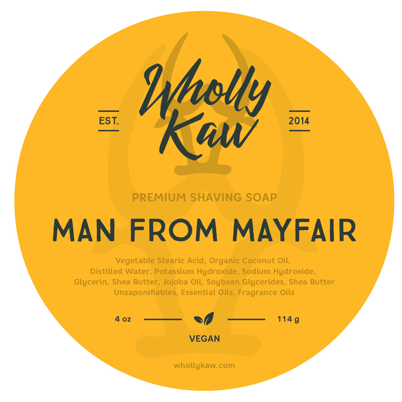 Wholly Kaw - Man From Mayfair - Soap (Vegan) image