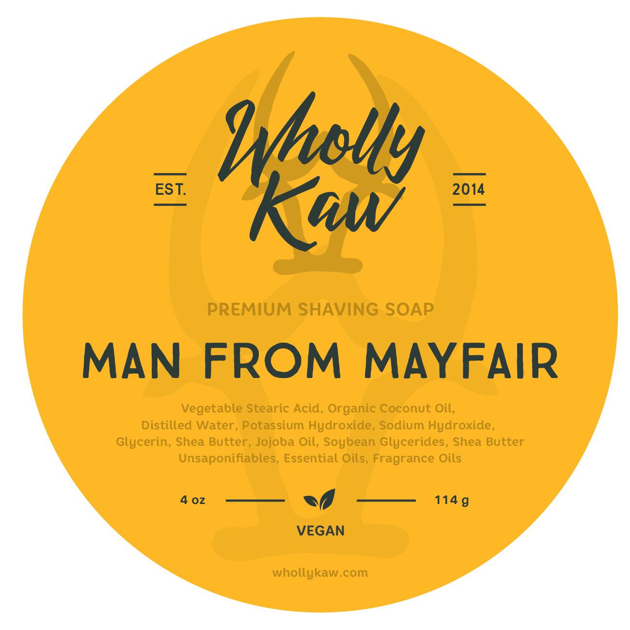Wholly Kaw - Man From Mayfair - Soap (Vegan) image