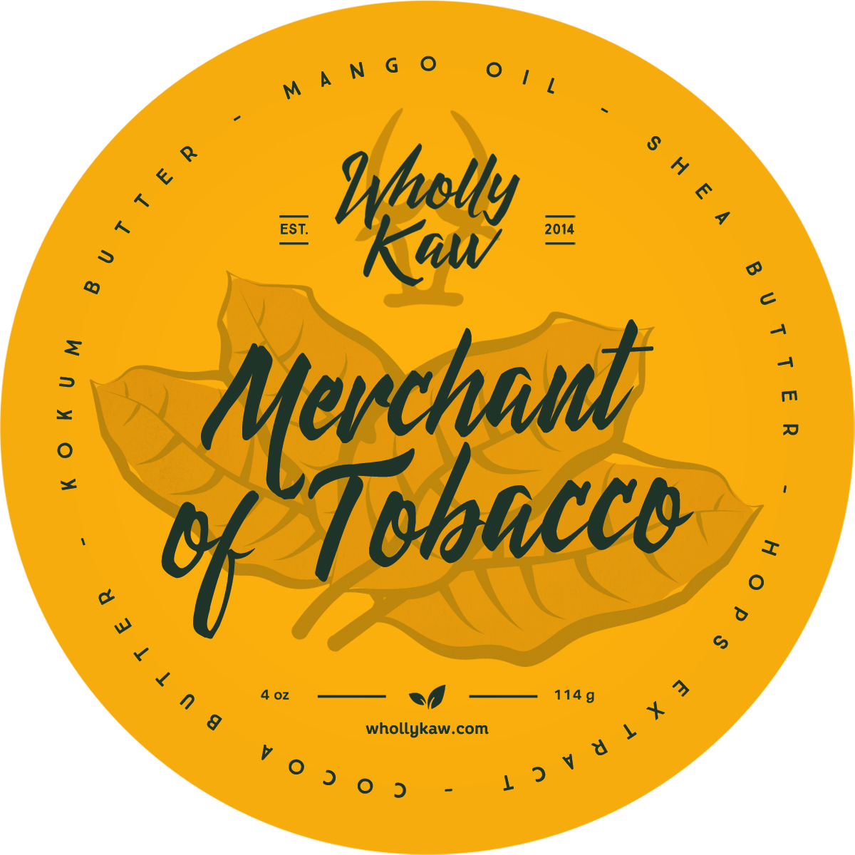 Wholly Kaw - Merchant of Tobacco - Soap (Vegan) image