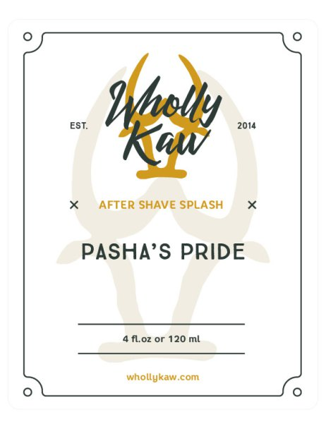 Wholly Kaw - Pasha's Pride - Aftershave image