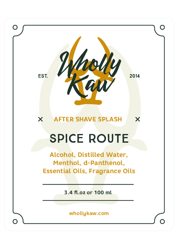 Wholly Kaw - Spice Route - Aftershave image