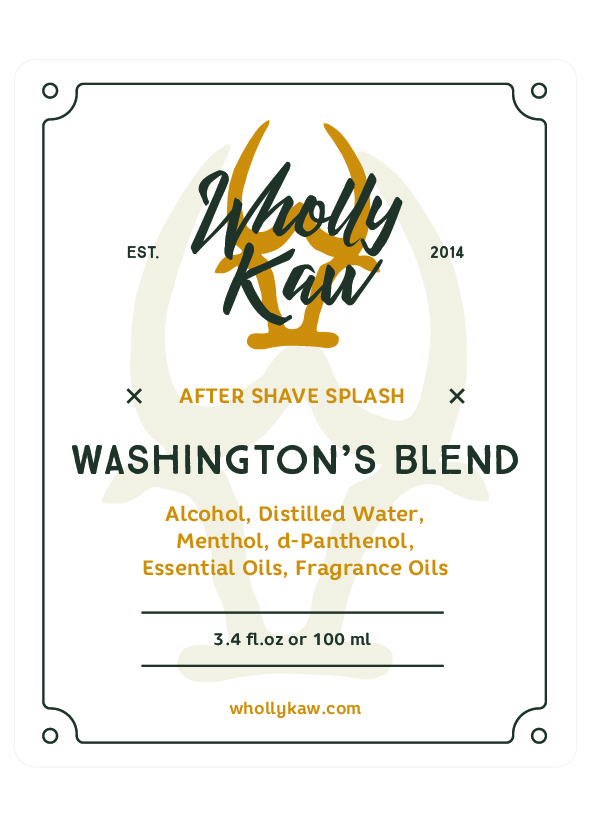 Wholly Kaw - Washington's Blend - Aftershave image