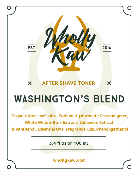 Wholly Kaw - Washington's Blend - Toner image